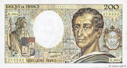 200 Francs MONTESQUIEU FRANCE  1989 F.70.09 TTB