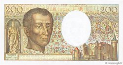 200 Francs MONTESQUIEU FRANCE  1989 F.70.09 pr.SUP