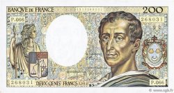 200 Francs MONTESQUIEU FRANCE  1989 F.70.09 SUP