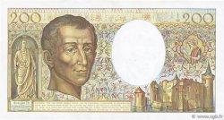 200 Francs MONTESQUIEU FRANCE  1989 F.70.09 SUP