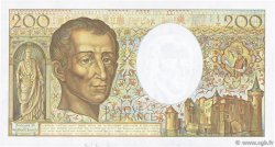 200 Francs MONTESQUIEU FRANCE  1989 F.70.09