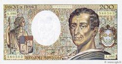 200 Francs MONTESQUIEU FRANCE  1990 F.70.10a SUP