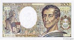 200 Francs MONTESQUIEU alphabet 101 FRANCE  1992 F.70bis.01 NEUF