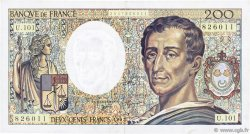 200 Francs MONTESQUIEU alphabet 101 FRANCE  1992 F.70bis.01 TTB+