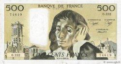 500 Francs PASCAL FRANCE  1985 F.71.33 TTB