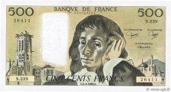 500 Francs PASCAL FRANCE  1986 F.71.34