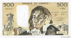 500 Francs PASCAL FRANCE  1989 F.71.40