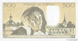 500 Francs PASCAL FRANCE  1989 F.71.41 TTB+