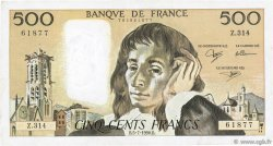 500 Francs PASCAL FRANCE  1990 F.71.44 TB+