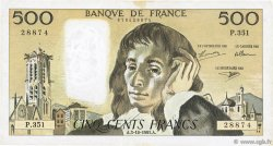 500 Francs PASCAL FRANCE  1991 F.71.48 TTB