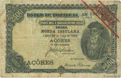 2500 Reis AÇORES  1909 P.08b pr.TB