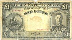 1 Pound BAHAMAS  1936 P.11e AB