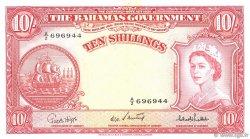 10 Shillings BAHAMAS  1953 P.14c SUP+