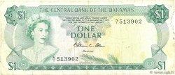 1 Dollar BAHAMAS  1974 P.35b TB