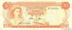 5 Dollars BAHAMAS  1974 P.37b TB+