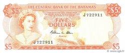 5 Dollars BAHAMAS  1974 P.37b NEUF