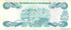 10 Dollars BAHAMAS  1984 P.46b TB