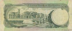 5 Dollars BARBADE  1975 P.32a TB