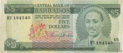 5 Dollars BARBADE  1975 P.32a TTB
