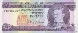 20 Dollars BARBADE  1973 P.34a SUP