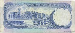 2 Dollars BARBADE  1986 P.36 TB