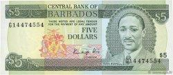 5 Dollars BARBADE  1986 P.37 NEUF