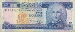 2 Dollars BARBADE  1993 P.42 TTB