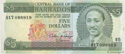 5 Dollars BARBADE  1993 P.43 TTB