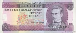 20 Dollars BARBADE  1993 P.44 SUP