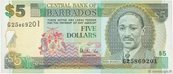 5 Dollars BARBADE  1999 P.55 NEUF