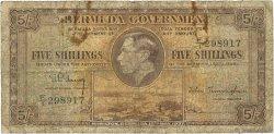 5 Shillings BERMUDES  1937 P.08b B
