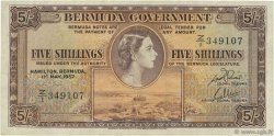 5 Shillings BERMUDES  1957 P.18b TTB