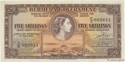 5 Shillings BERMUDES  1957 P.18b pr.NEUF