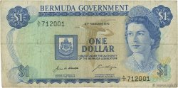 1 Dollar BERMUDES  1970 P.23a TB