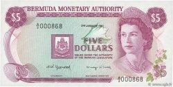 5 Dollars BERMUDES  1981 P.29b NEUF