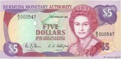 5 Dollars BERMUDES  1989 P.35ab NEUF
