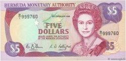 5 Dollars BERMUDES  1989 P.35b pr.NEUF