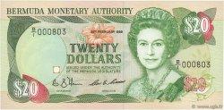20 Dollars BERMUDES  1989 P.37a NEUF