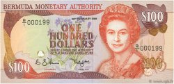 100 Dollars BERMUDES  1989 P.39 NEUF