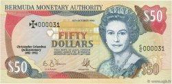 50 Dollars BERMUDES  1992 P.40 NEUF
