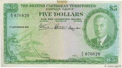 5 Dollars CARAÏBES  1951 P.03 TTB+