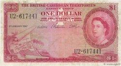 1 Dollar CARAÏBES  1957 P.07b TB+