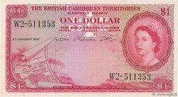 1 Dollar CARAÏBES  1957 P.07b SUP+