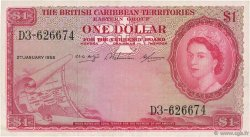 1 Dollar CARAÏBES  1958 P.07c TTB