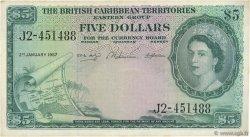 5 Dollars CARAÏBES  1957 P.09b TTB