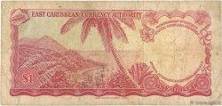 1 Dollar CARAÏBES  1965 P.13e B+