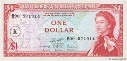1 Dollar CARAÏBES  1965 P.13k SPL