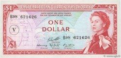 1 Dollar CARAÏBES  1965 P.13o SUP