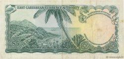 5 Dollars CARAÏBES  1965 P.14a TTB