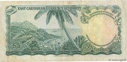 5 Dollars CARAÏBES  1965 P.14b TB